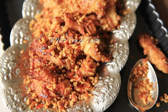 Resep Ayam Goreng Tabur Cabai Bawang