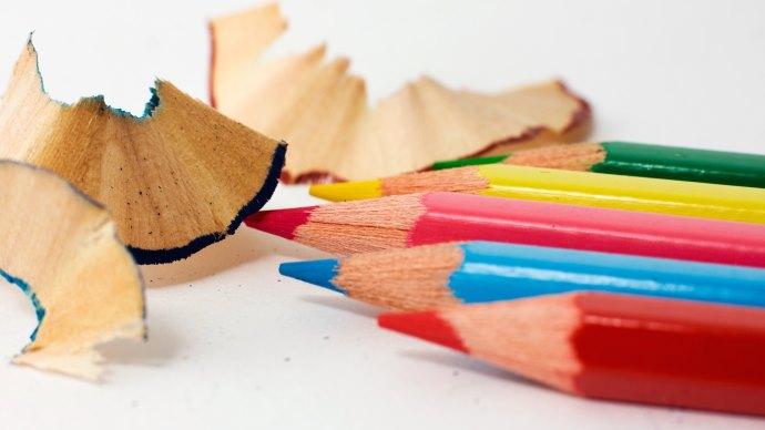 Wallpaper: Red Green Blue RGB. Color Pencils