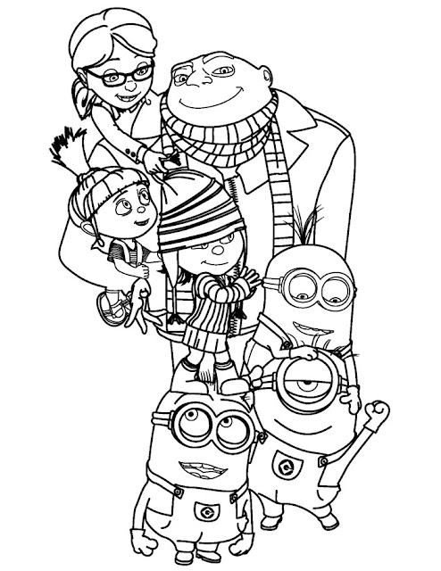 Despicable Me And Minions Free Printable Coloring Pages