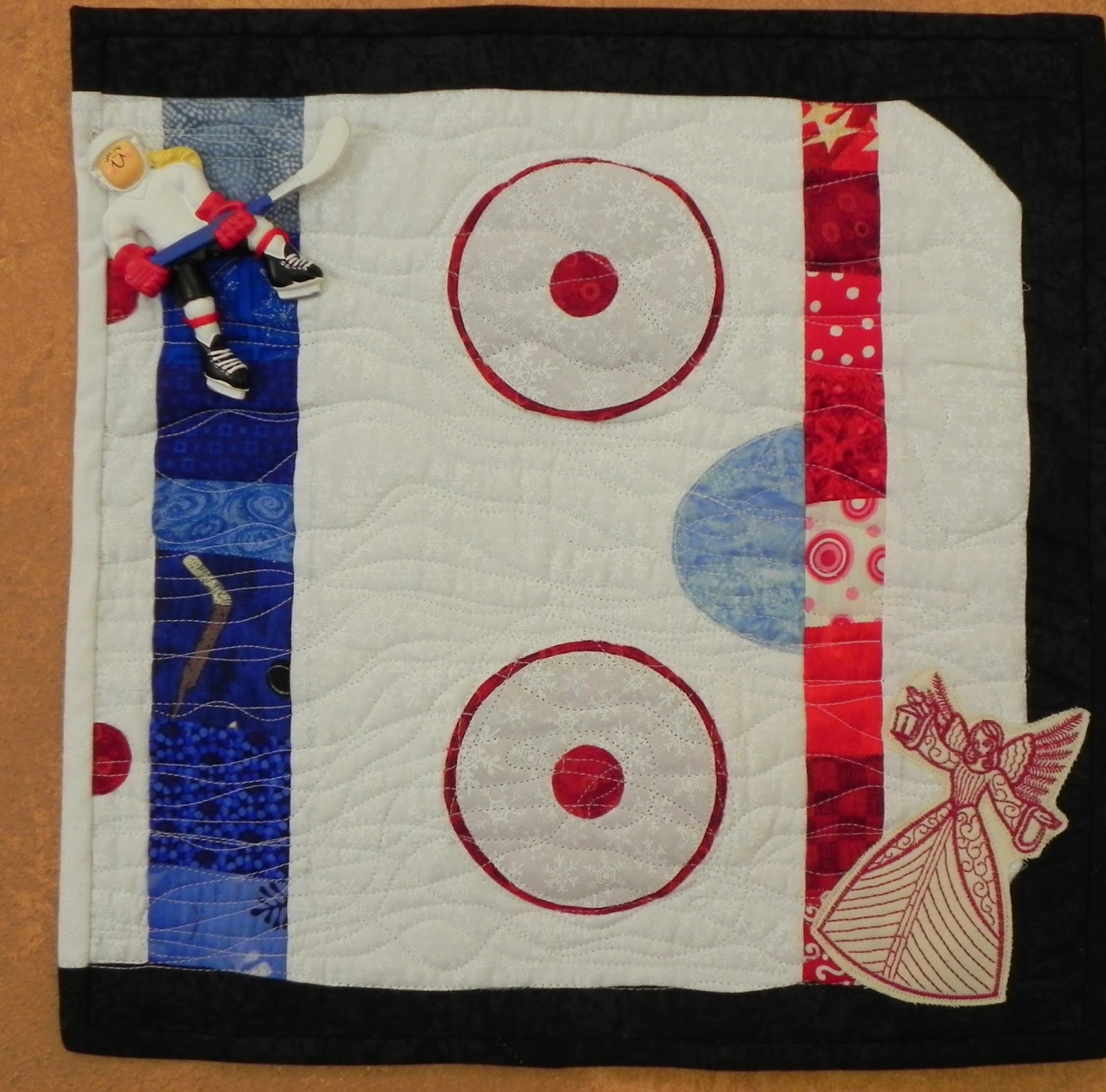 hockey rink diagram great white shark anatomy bell creek quilts: my angel of light quilt...hockey style