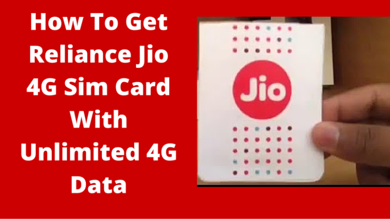 How to Buy reliance jio sim online
