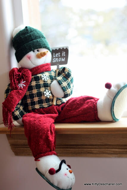 let it snow cute snowman decor