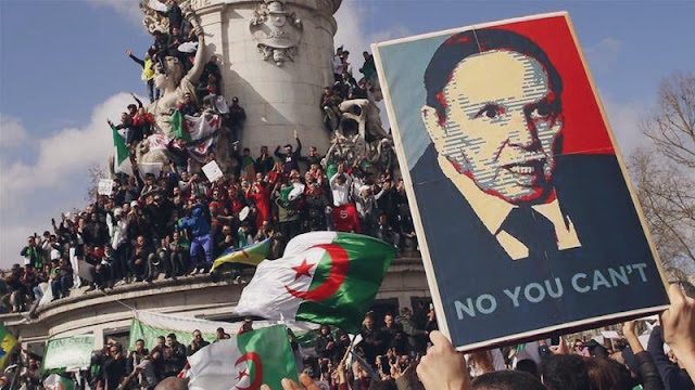 "Algerian protesters say that Bouteflika Can't ""AP"""