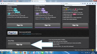klik Sign Up