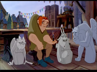Quasimodo gargoyles The Hunchback of Notre Dame animatedfilmreviews.filminspector.com