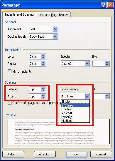 Cara Mengatur Jarak atau Spasi Pada Ms.Office Word