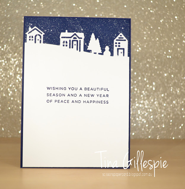 scissorspapercard, Stampin' Up!, Art With Heart, Heart Of Christmas, Hearts Come Home, Hometown Greetings Edgelits, Shimmer Paint