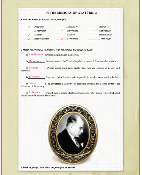 9. Sınıf Yıldırım Yayınları İngilizce A1.1 Ders Kitabı 36. Sayfa Cevapları Theme 2 Education