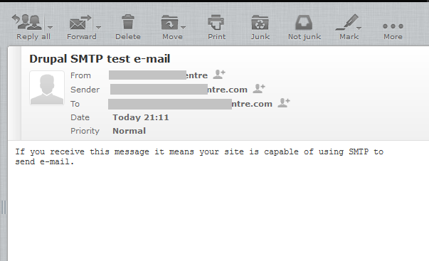 How to resolve Drupal unable to send email - contact the site