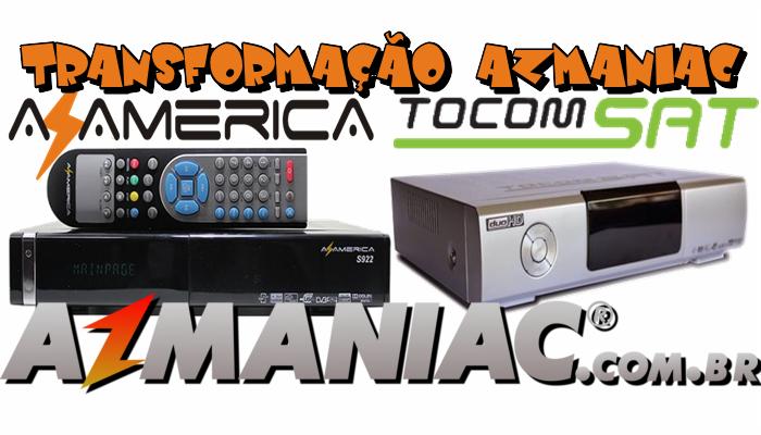Azamerica S922 Transformado em Tocomsat Duo HD