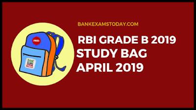 RBI Grade B Study Bag- April 2019