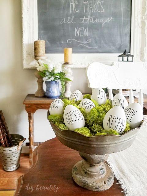 How to make Rae Dunn inspired Easter eggs.