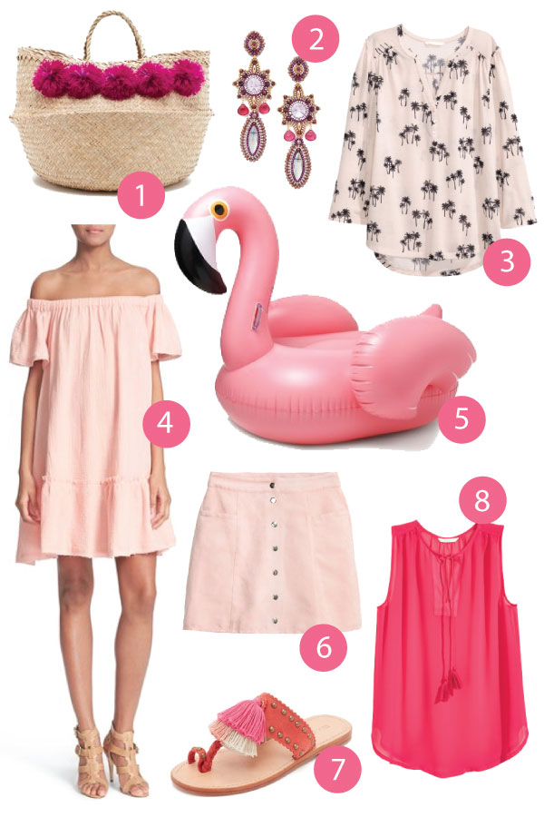 How to wear and style hot pink and blush fashion this summer