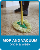 Mop and Vacuum Once a Week