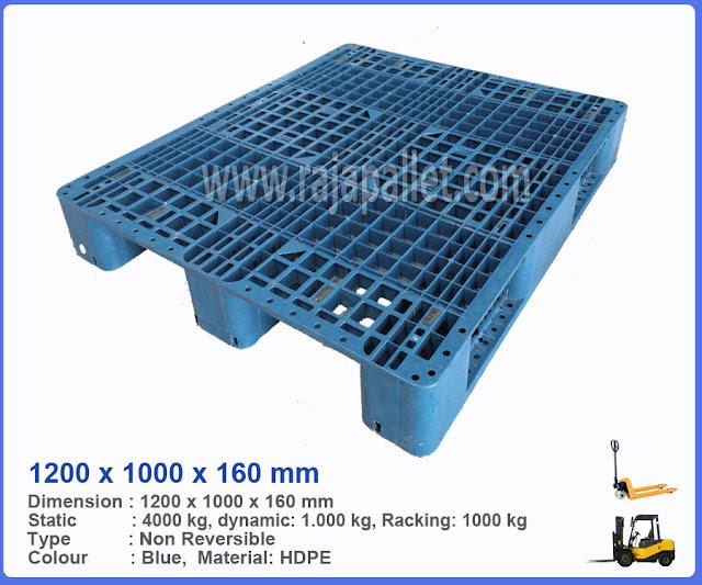 Pallet Plastik Bekas 1200 x 1000 x 160 mm