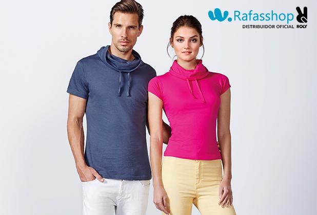 Camiseta Laurus 6558 (hombre) - 6645 (mujer) Roly Manga Corta Cuello Chimenea