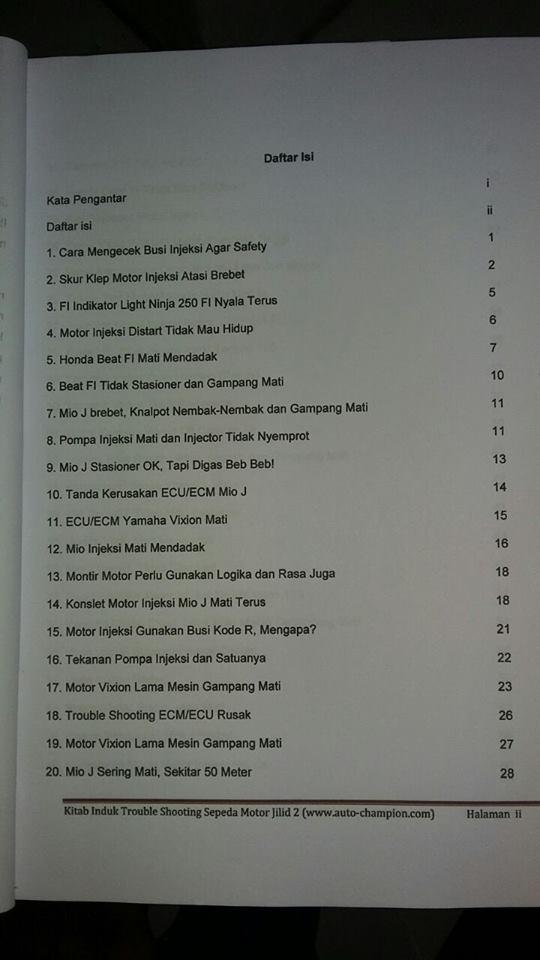 daftar isi materi injeksi