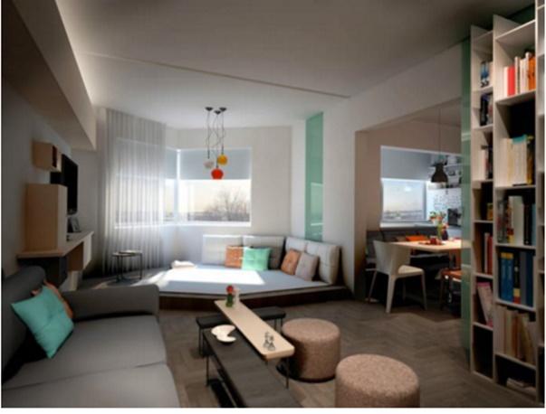 apartment decorating interior one bedroom apartment space saving