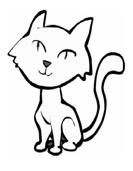 hard cat design coloring pages - photo#35