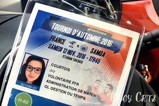 Accréditation pour France-Samoa