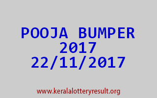 POOJA BUMPER 2017 Lottery Result 22-11-2017