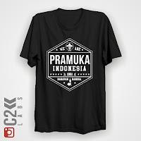 Kaos Pramuka Indonesia Rajin Terampil dan Gembira