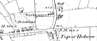 Hopwood/Hebers Workhouse, OS map, 1847.