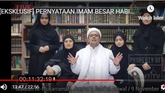 HRS Ingatkan Penyebar Fotonya: Pihak Saudi akan Mengejar Mereka, Bisa Kena Pancung!