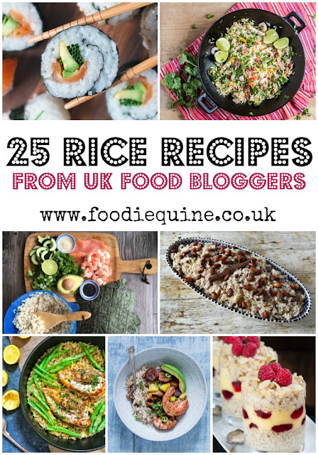 www.foodiequine.co.uk 25 Rice based Recipes from top UK food bloggers to celebrate National Rice Week 2017. Whether you're looking for inspo to use up leftovers, rustle up a quick midweek meal, or discover a new go-to salad there's something for you in this roundup
