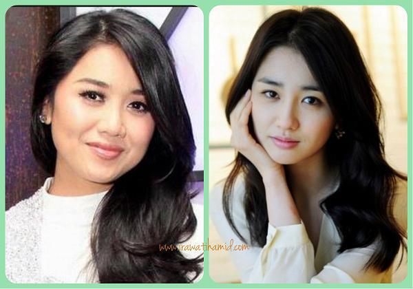 artis indonesia yang wajahnya mirip artis korea