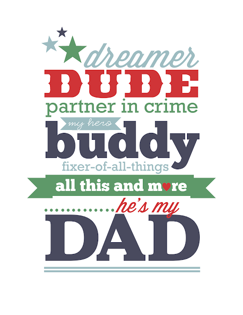 FatFREE Father's Day printable by Jen Gallacher from www.jengallacher.com. #fathersday #dadprintable
