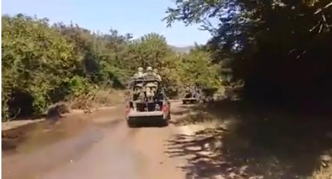 VÍDEO; Convoy del ejercito rumbo a la Noria,Sinaloa se habla de varios muertos