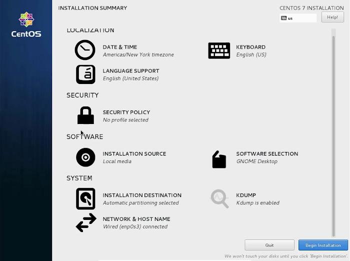Install CentOS 7 GUI