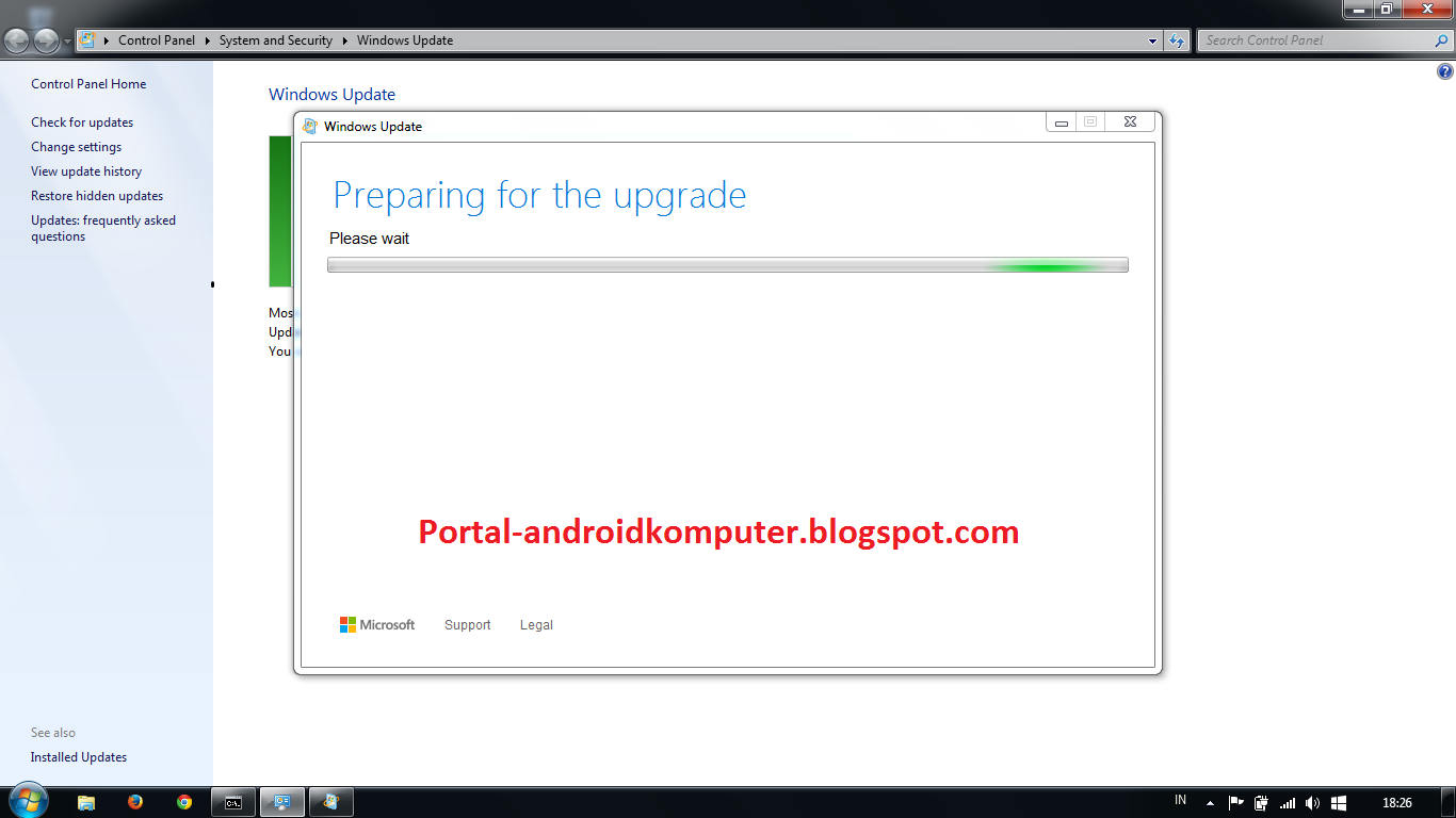 Cara upgrade windows 7 ke windows 10 tanpa kehilangan aplikasi