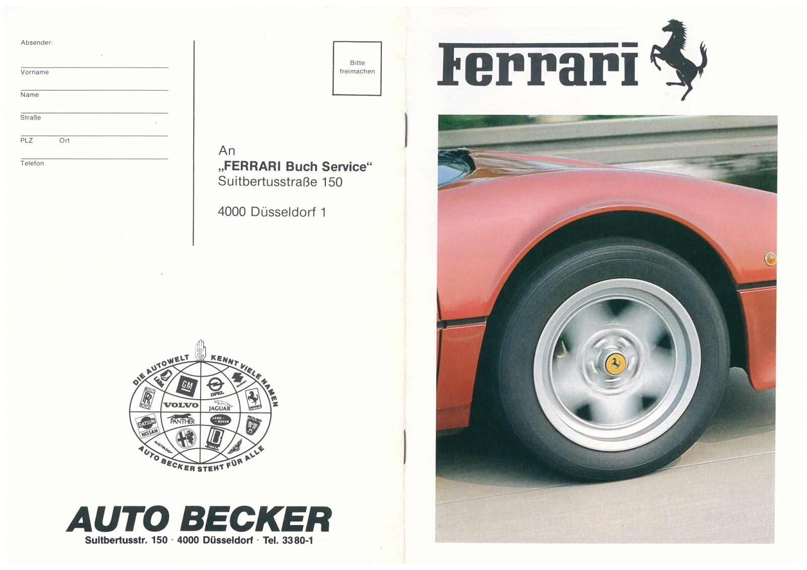 ferrari 400 auto becker pricelist 1984 ferrari 400i flaggschiff des commendatore. Black Bedroom Furniture Sets. Home Design Ideas