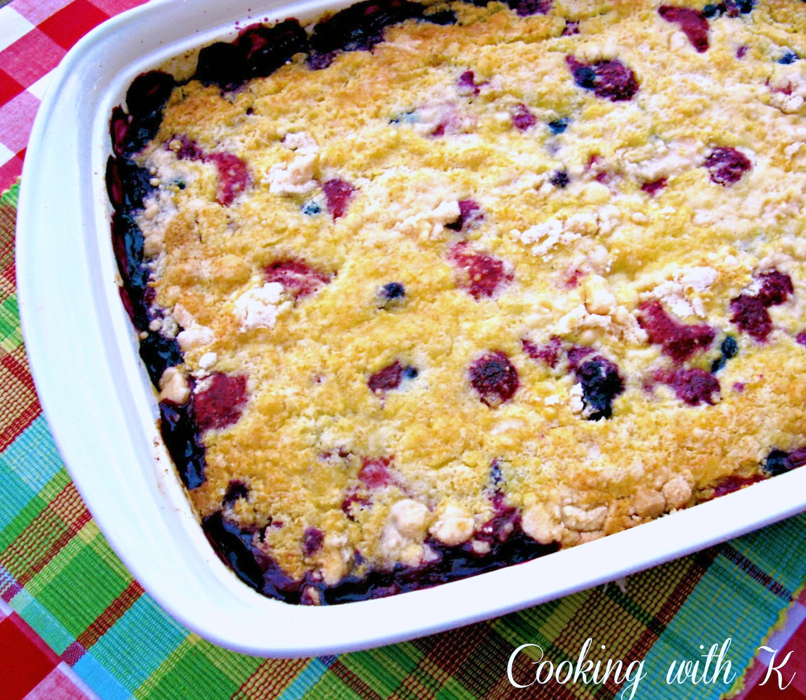 Triple Berry Cobbler This Is A Lazy Day Using Few Ings