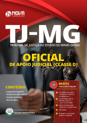 Apostila Concurso TJ MG 2020 Oficial de Apoio Judicial Grátis Cursos Online