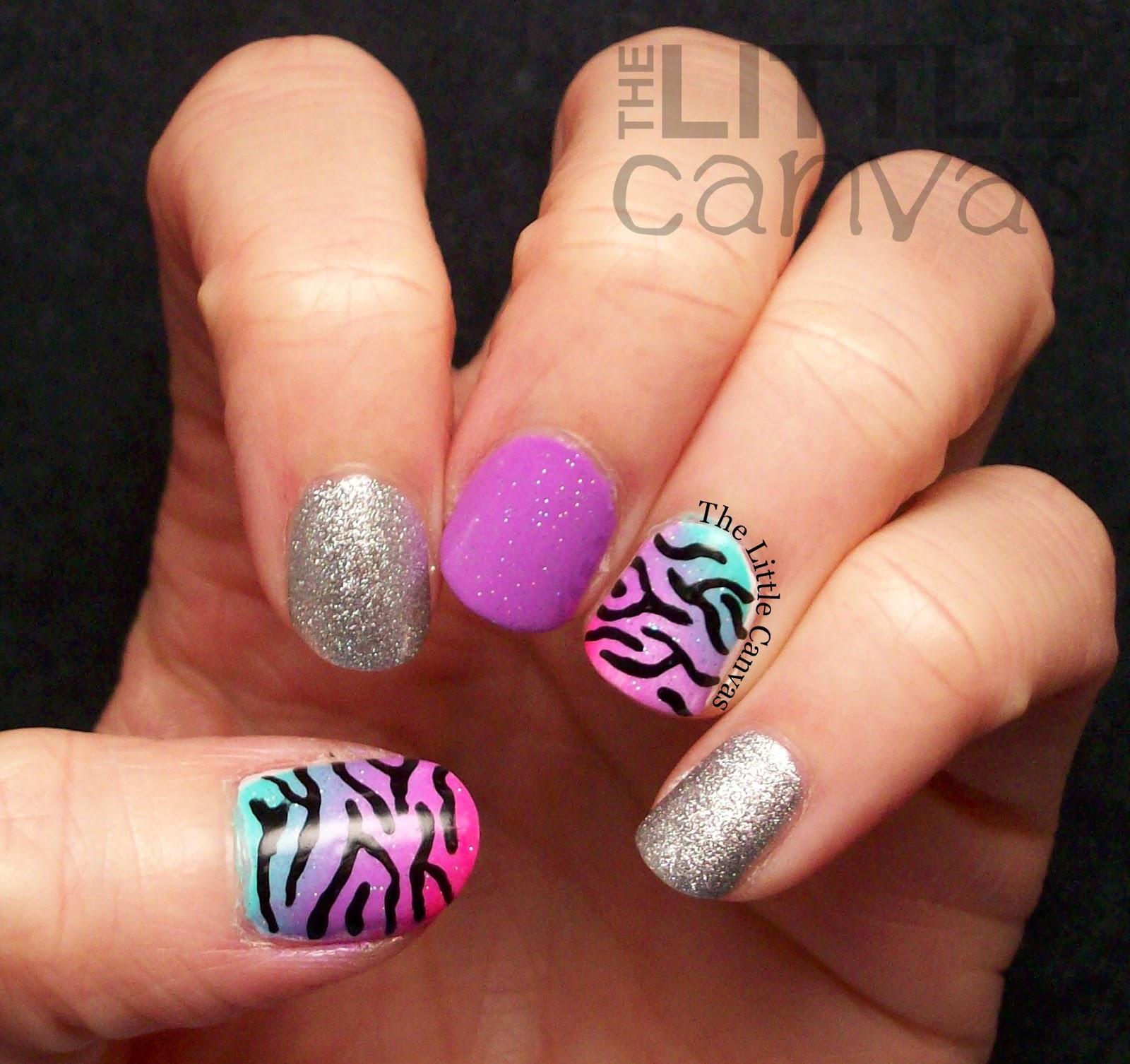 Neon Gradient with Zebra Print - The Little Canvas