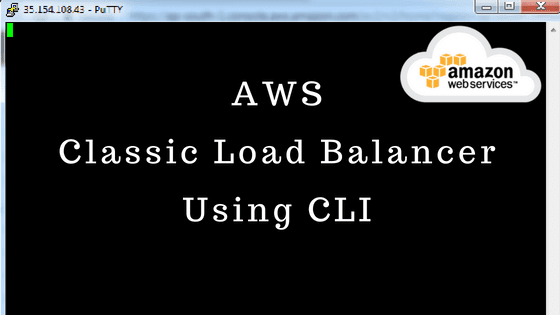 Classic Load Balancer Using AWS CLI