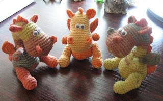 Вязаная крючком игрушка своими руками маленькие драконы