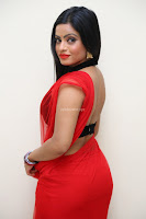 Aasma Syed in Red Saree Sleeveless Black Choli Spicy Pics ~  Exclusive Celebrities Galleries 060.jpg