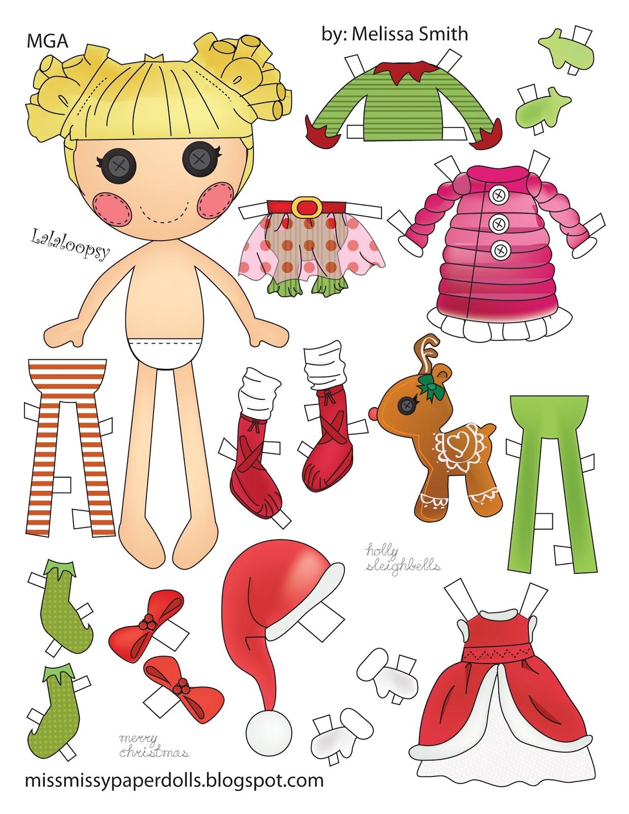 Miss Missy Paper Dolls Holly Sleighbells