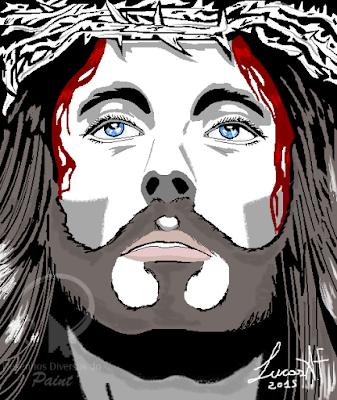Desenho de Jesus Cristo no Paint