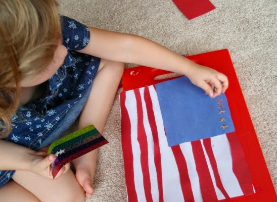 preschool flag craft and math activity
