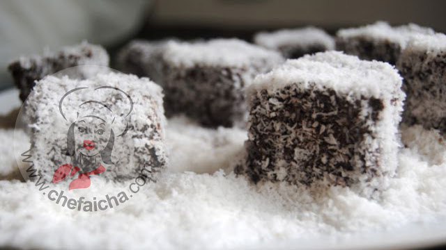 طريقة عمل البسبوسة بالشوكولاته وجوز الهند