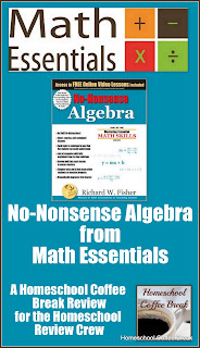 No-Nonsense Algebra from Math Essentials (A Homeschool Coffee Break Review) on Homeschool Coffee Break @ kympossibleblog.blogspot.com