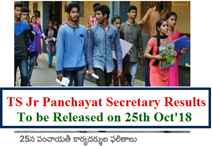 Telangana Junior Panchayat Secretary Recruitment Exam Results to be released on 25th October 2018 at official web portal www.tsprrecruitment.in, officials said. Great News from Officials on Telangana Panchayat Secretary Recruitment Exam Results for the candidates who have appeared the exam held on 10th October 2018 to fill up 9335 vacant posts in Panchayat Raj Dept of Telangana StateTelangana State Panchayat Raj Department is going to release selection list/ Merit List with Marks for Junior Panchayat Secretary vacancies. Telangana Panchayat Secretary Recruitment exam conducted by JNTU Results to be anounced on 25th October 2018. Immediately after anouncing the results , officials take up the certificate verification process. Candidates have to be ready with the required documents ts-panchayat-secretary-exam-results-merit-marks-selection-list-tsprrecruitment-download
