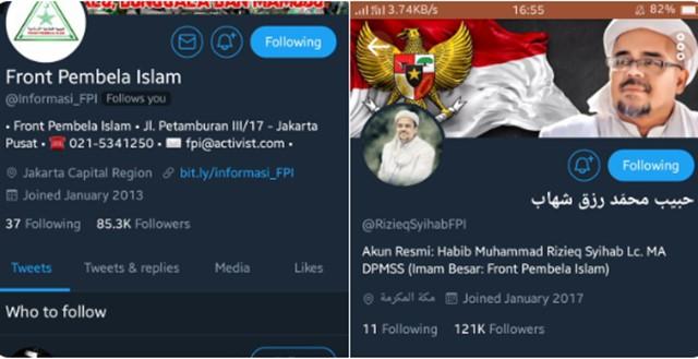 Akun Twitter Habib Rizieq dan Informasi FPI Tiba-tiba Disuspend, Ada Apa?