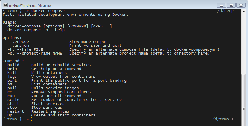 docker compose windows