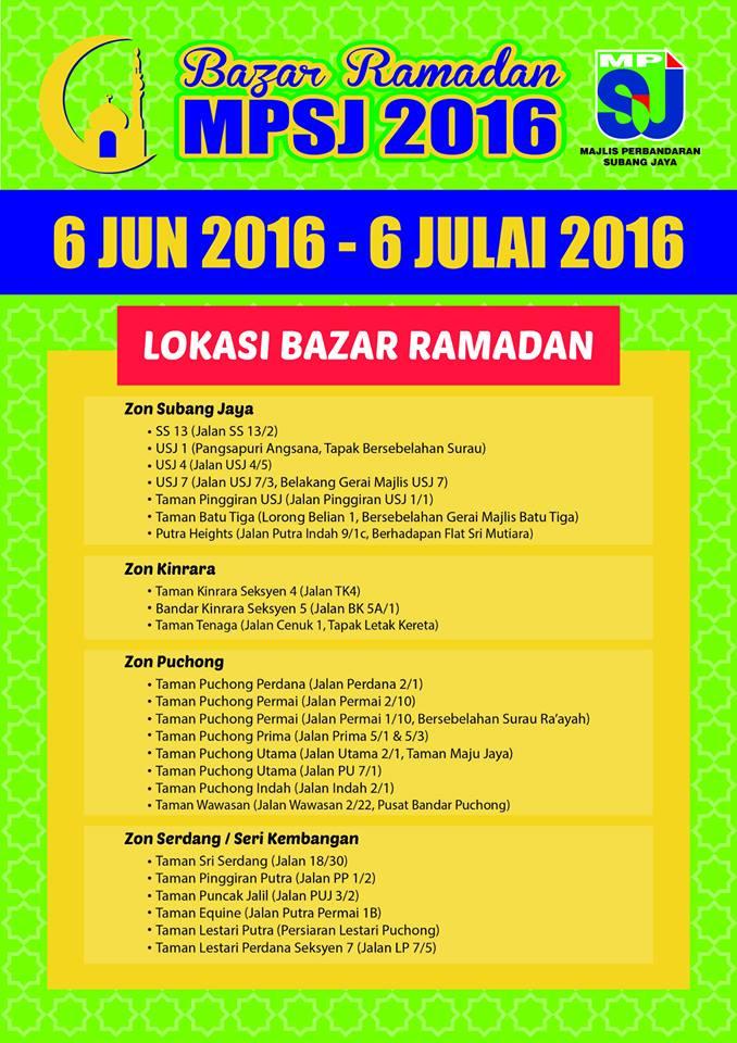 Bazar Ramadhan Selangor 2016 subang jaya